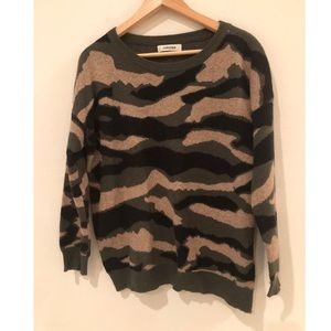 Jubylee Camo Sweater Size Large Cotton Wool blend